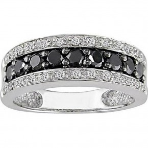 Black Wedding Rings For Women Model Pictures