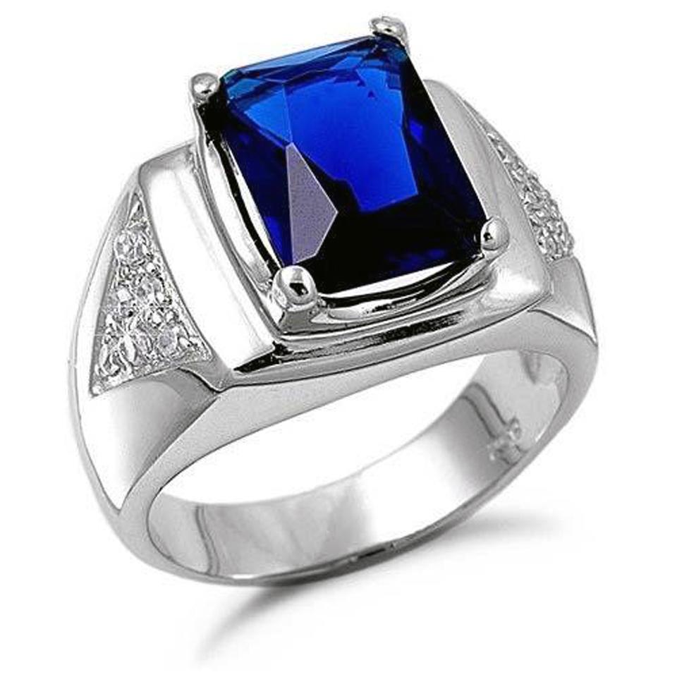 Blue Sapphire Rings For Men Ideas