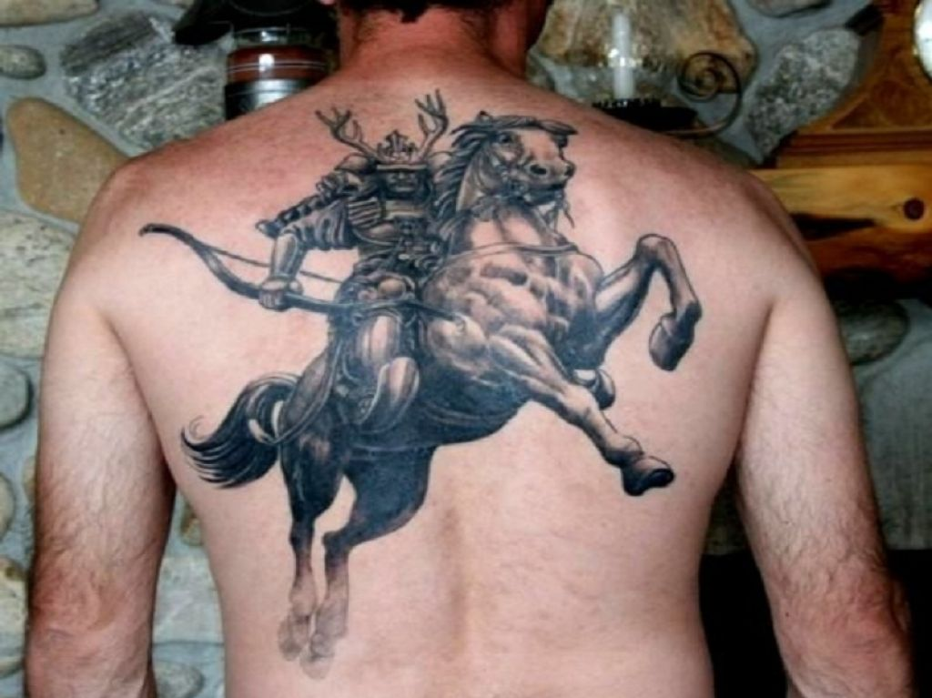Brave Samurai On A Horse On Guys Back Pictures