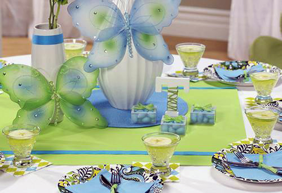 Table Decoration For Baby Shower By Martha Stewart