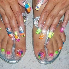 Bright Toe Nail Designs Ideas Pictures