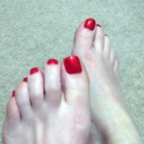 Bright Toe Nail Designs Red Pictures