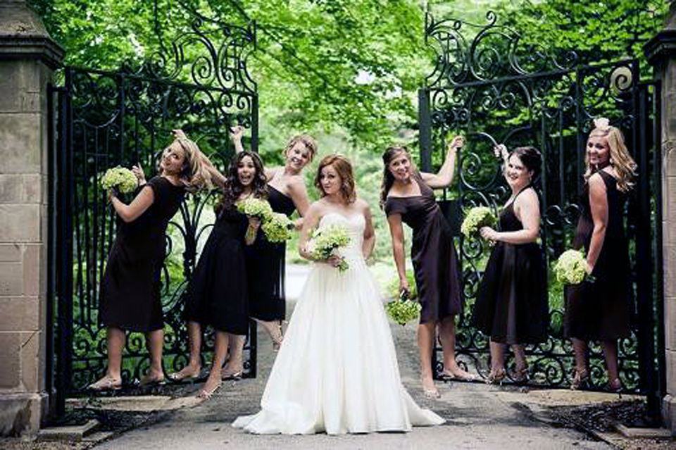Brown Bridesmaid Dresses With Sleeves