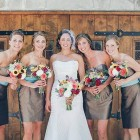 Brown Country Dresses Bridesmaid  Pictures