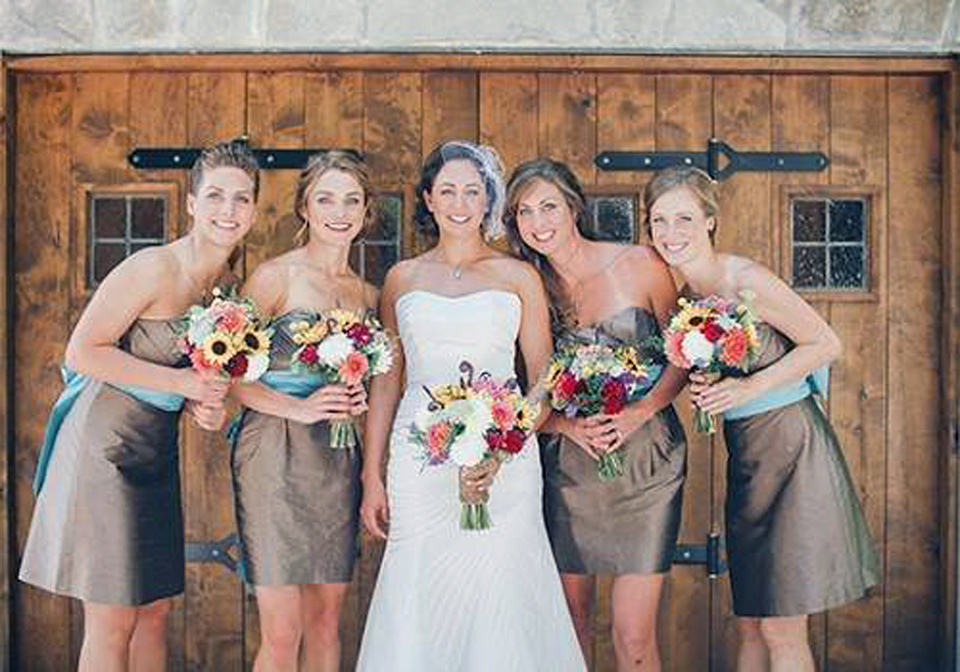 Brown Country Dresses Bridesmaid