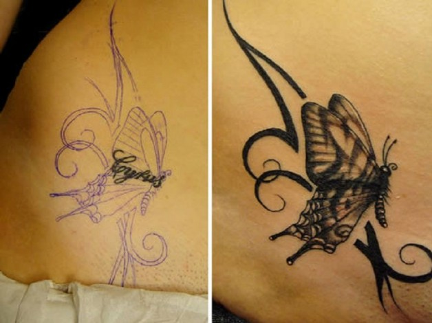 Butterfly Tattoo Cover Up Inspiration
