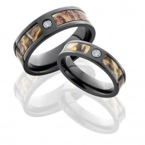 Camo Diamond Wedding Band Ideas Pictures