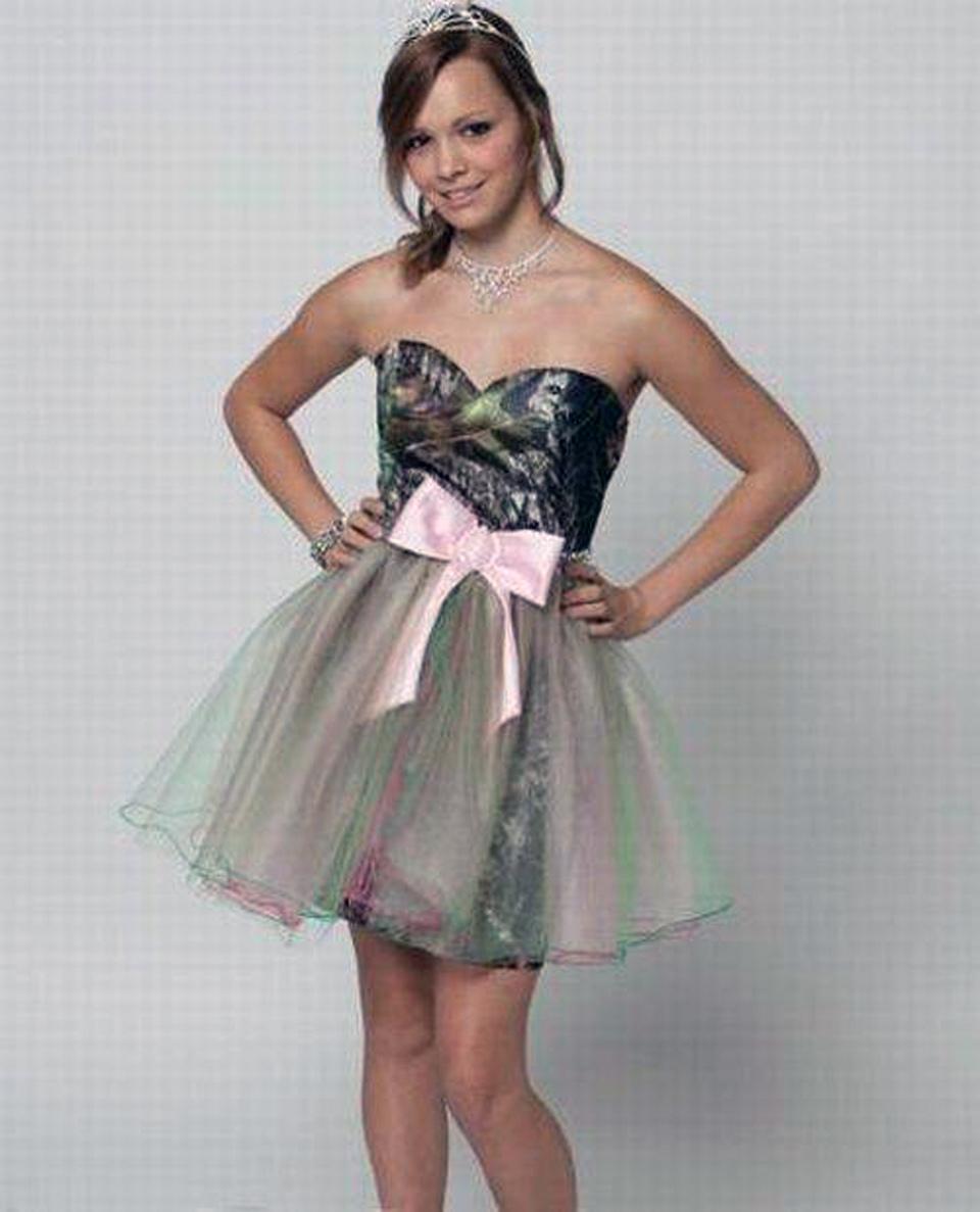 Camo Grad Dress Ideas