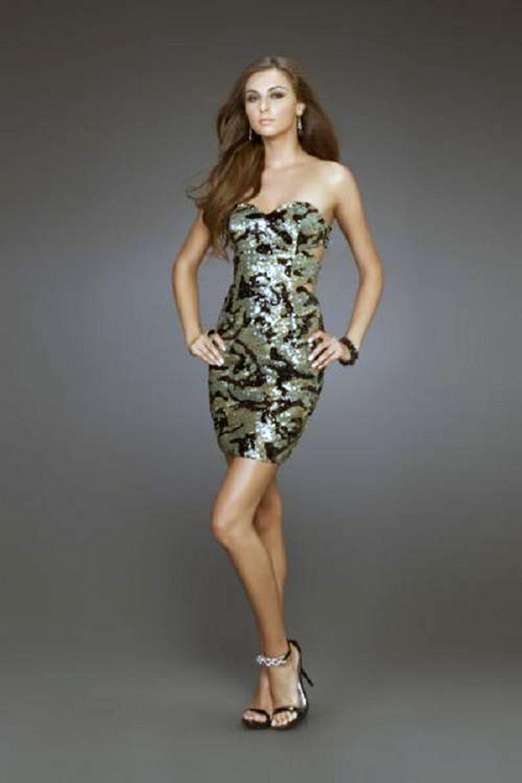 Camo Homecoming Dresses Short Designs