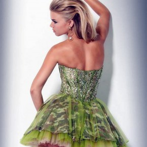 Camo Homecoming Dresses Short Green Pictures
