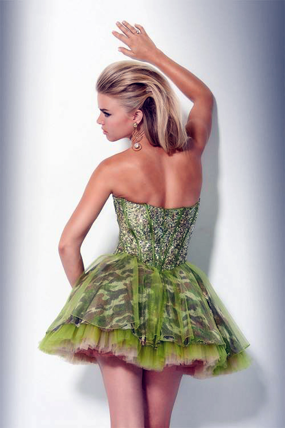 Camo Homecoming Dresses Short Green