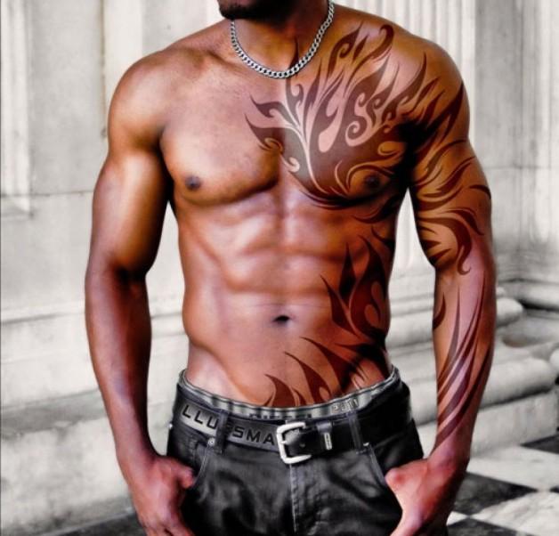 Chest Tattoo Designs For Masculien Men