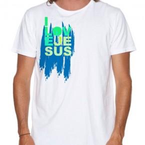 Christian T-Shirts For Men, I Love Jesus Men's Christian T shirt cotton by TinyVesselApparel