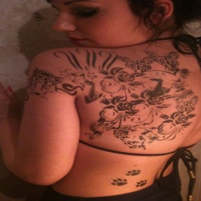 Classy Half Back Temporary Airbrush Tattoos Pictures