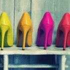 colored high heel pumps