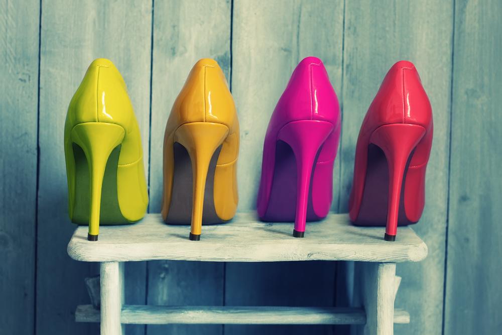 colored high heel pumps