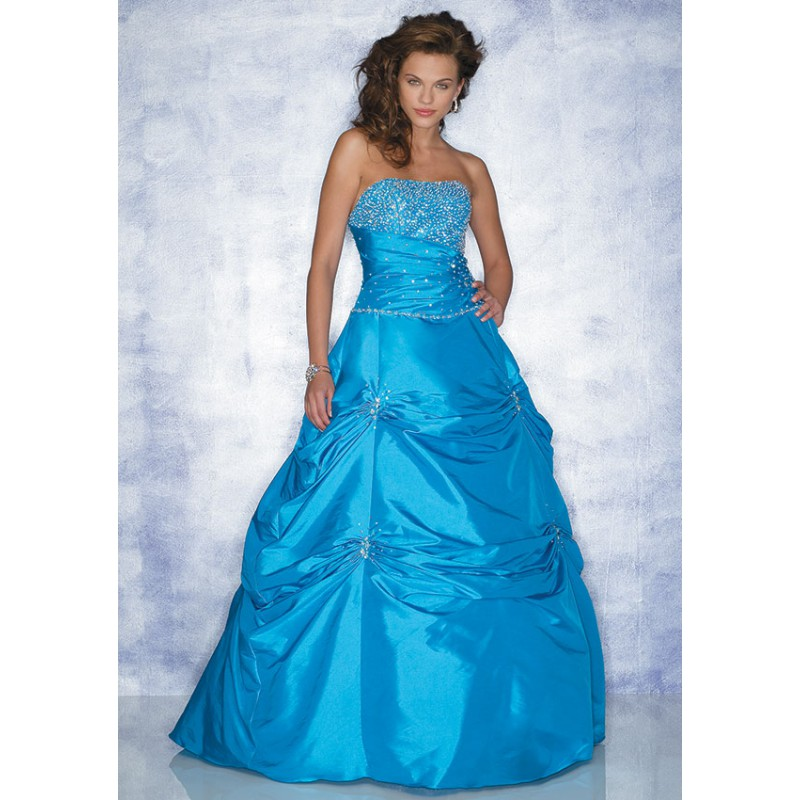 Colored wedding dresses royal blue color ball gown beaded for Blue dresses to wear to a wedding