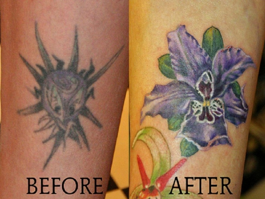 Colorful tattoo cover up ideas pictures fashion gallery for Covering tattoos for wedding
