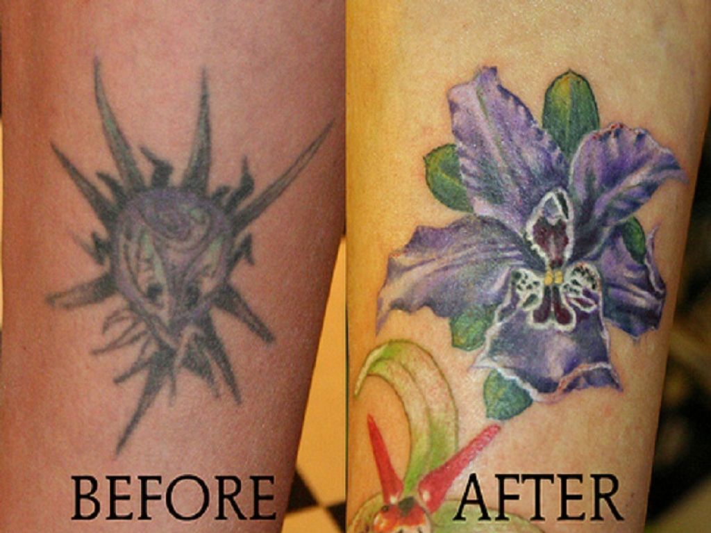 Colorful Tattoo Cover Up Ideas Pictures