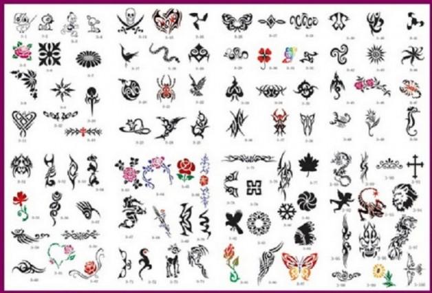 Cool Airbrush Tattoo Stencils