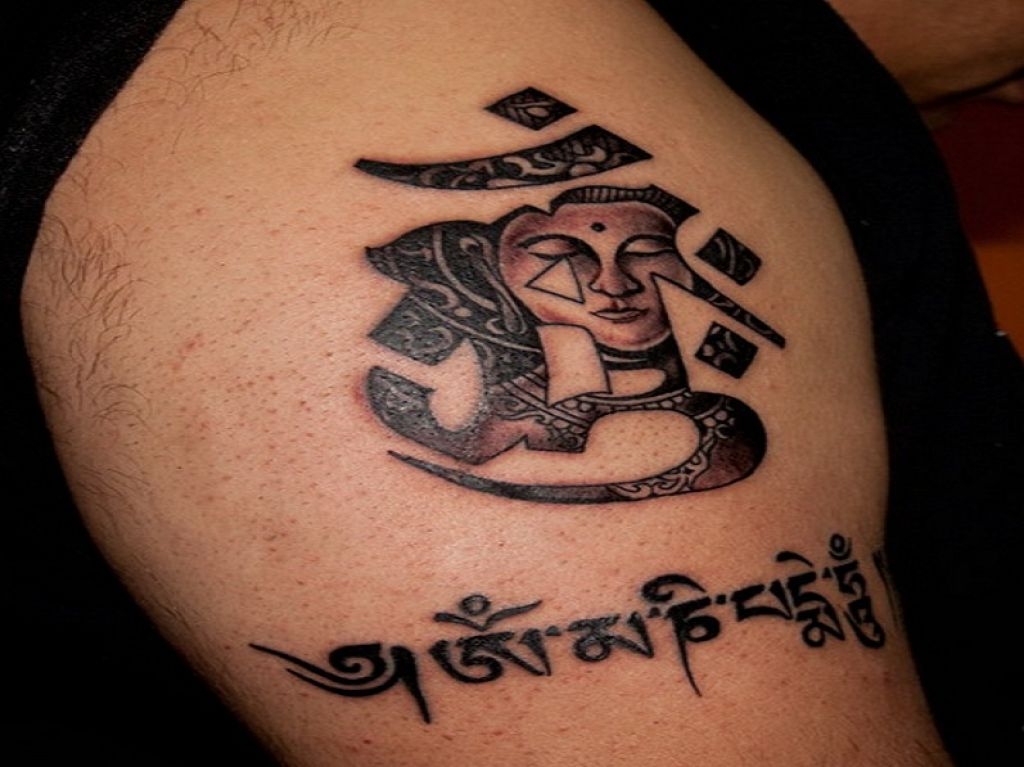 Cool Buddha Font Symbol Tattoos Pictures