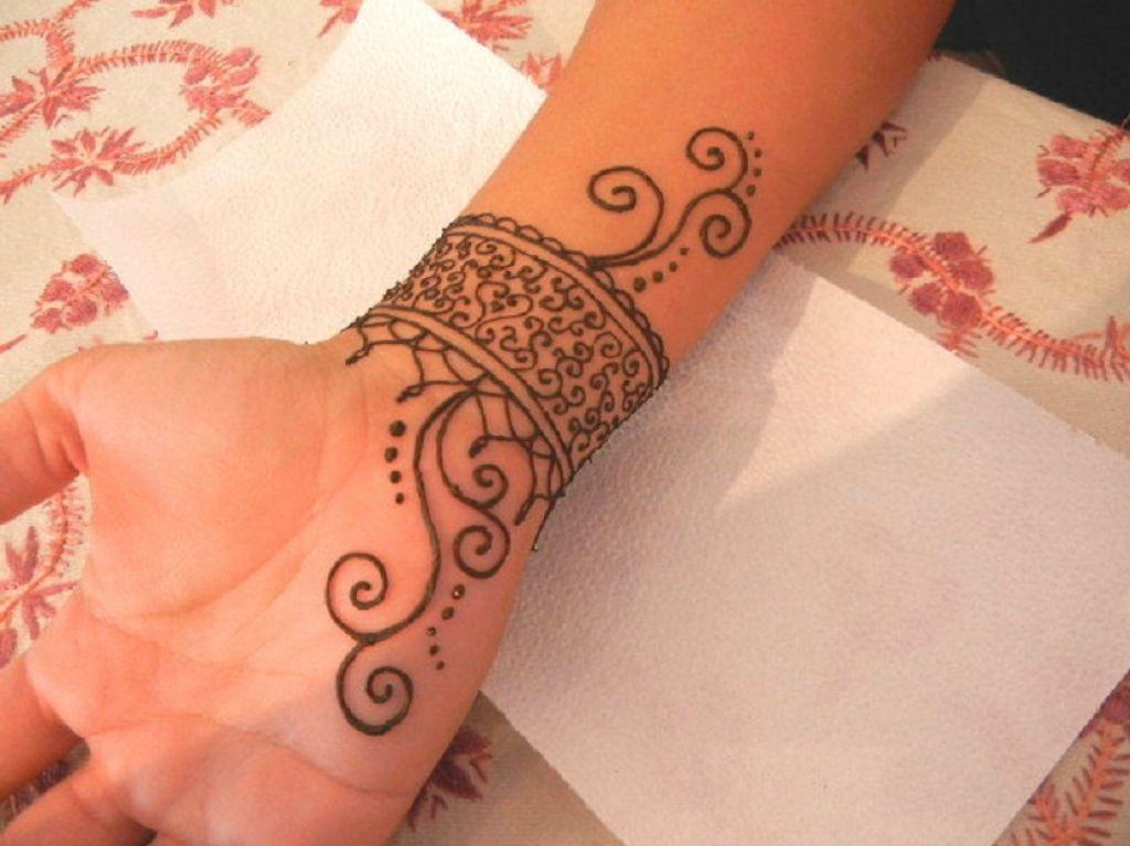 Wrist Cuff Henna Tattoos Mehndi: Big Henna Tattoo Ideas On Left Shoulder