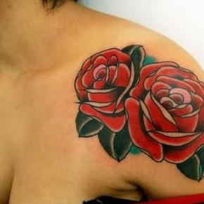 c6b85cdf8 Cool Shoulder Red Roses Tattoos. Orange Rose Tattoo Designs Ideas Pictures