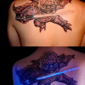 Cool UV Tattoo Degin Of Yoda Pictures