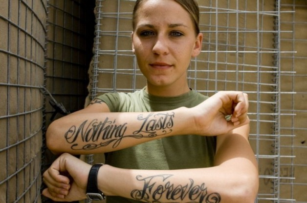 Corps Tattoos For Women Nothing Lasts Forever