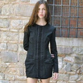 Corset Dress With Sleeves Black Pictures