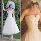 Corset Wedding Dress Tea Length Designs Pictures