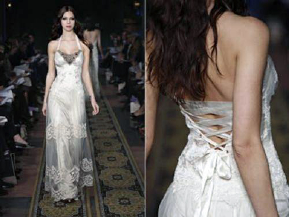 Corset Wedding Dresses Black And White 2013