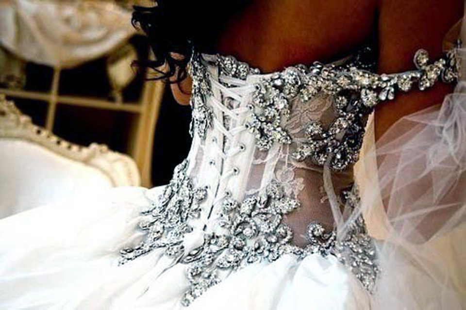 Corset Wedding Dresses Bling Uk