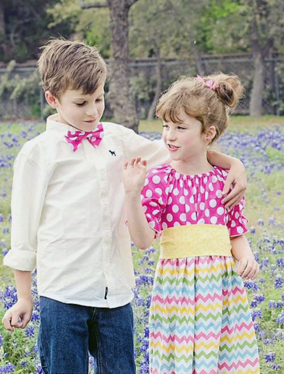 Country Style Dresses In Patterns For Kids