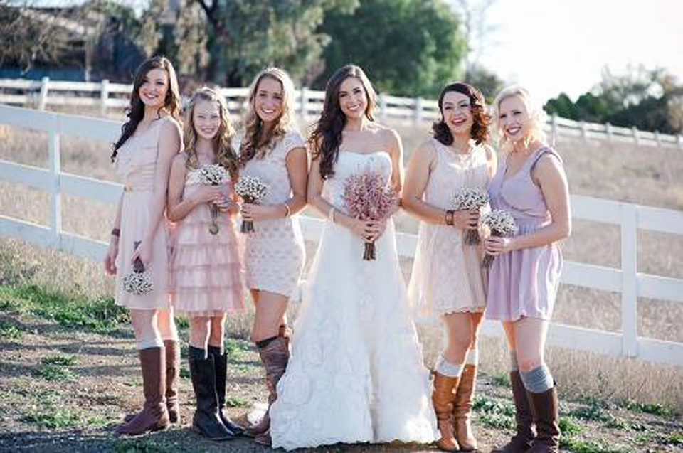 Country Themed Wedding Bridesmaid Dresses Samples