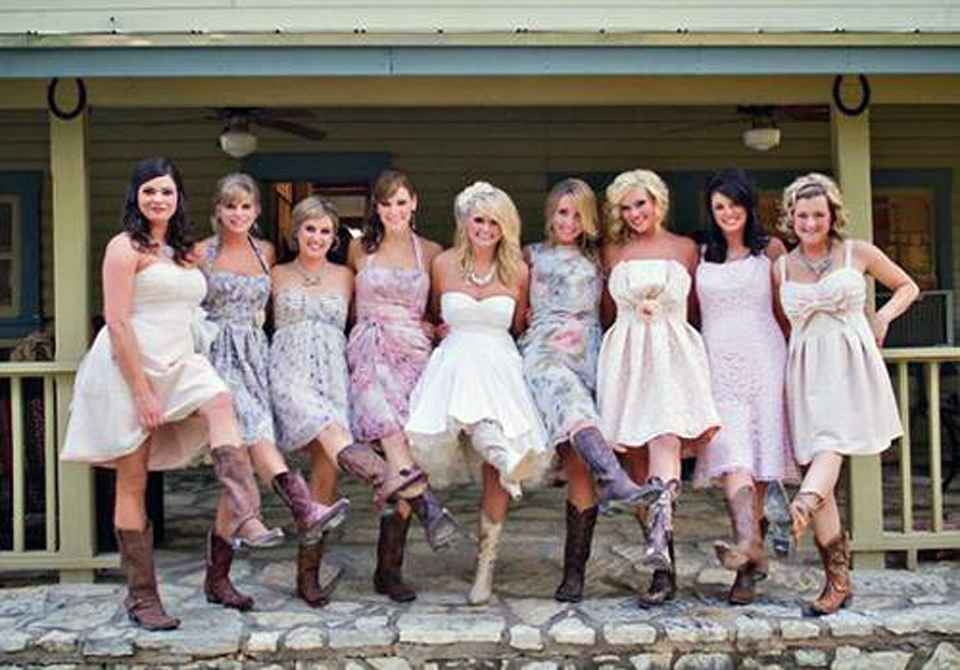 Country Wedding Dresses With Cowboy Boots 2013 - Inofashionstyle.com
