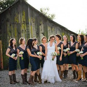 Country Wedding Dresses With Cowboy Boots Ideas Pictures