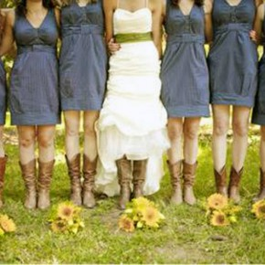 Country Wedding Dresses With Cowboy Boots Images Pictures