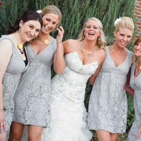 Country Wedding With Gray Dresses Inspiration Pictures