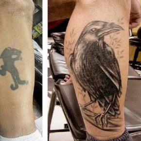 Crazy Crow Tattoo Cover Up Designs Pictures