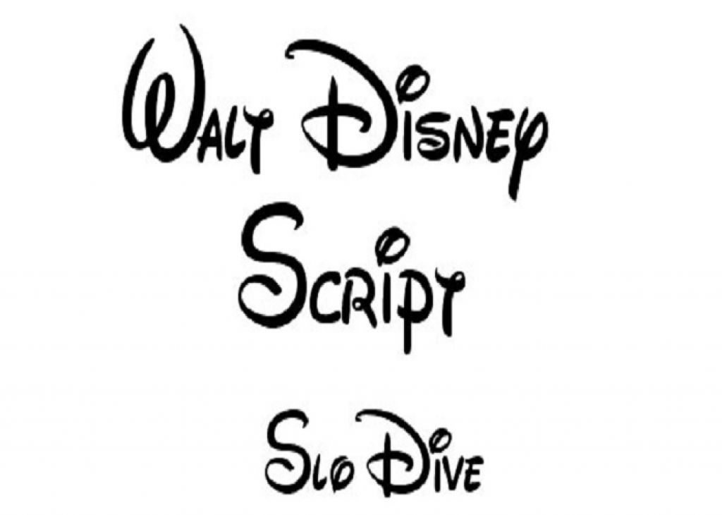 Creative Walt Disney Cursive Tattoo Font Pictures