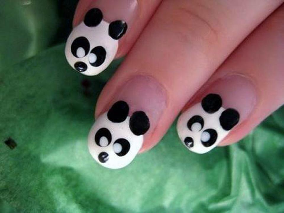 Cute Animal Nail Designs Panda - Cute Animal Nail Designs Panda - Inofashionstyle.com