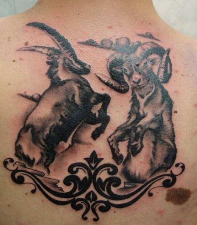 Design Tattoos Capricorn Vs Aries