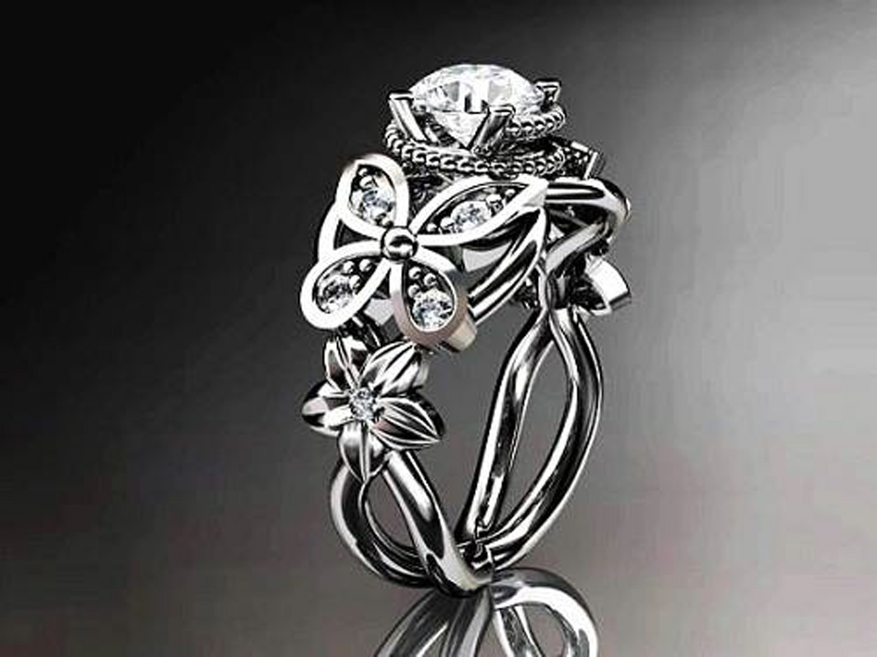 diamond butterfly engagement rings women ideas. Black Bedroom Furniture Sets. Home Design Ideas