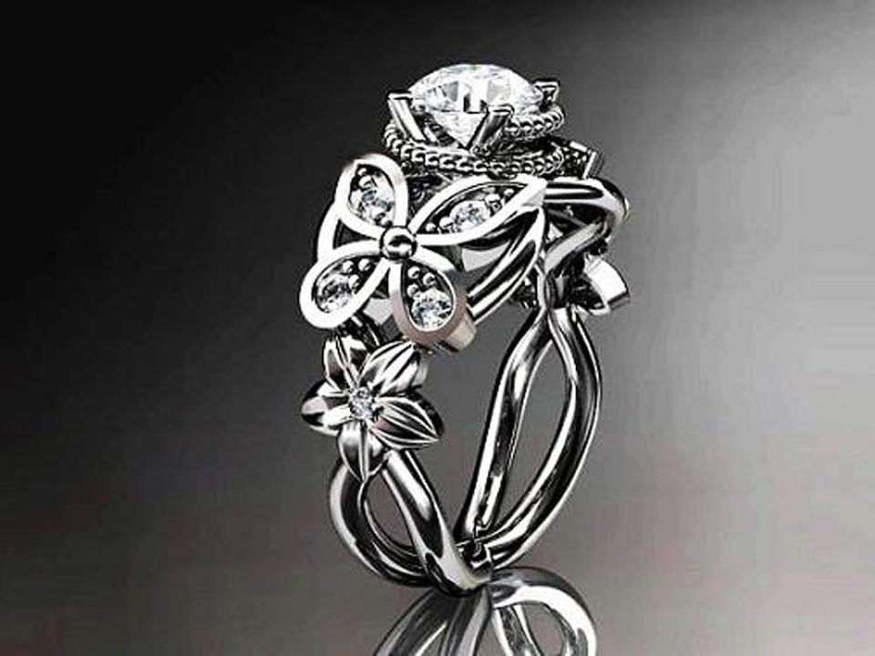 Diamond Butterfly Engagement Rings Women Ideas