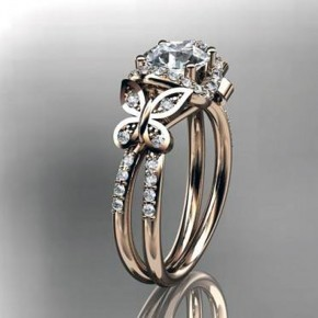 Diamond Butterfly Engagement Rings Women Images Pictures