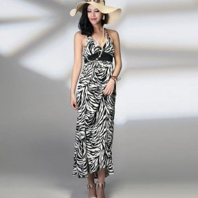 Dresses With Zebra Print Midi Pictures