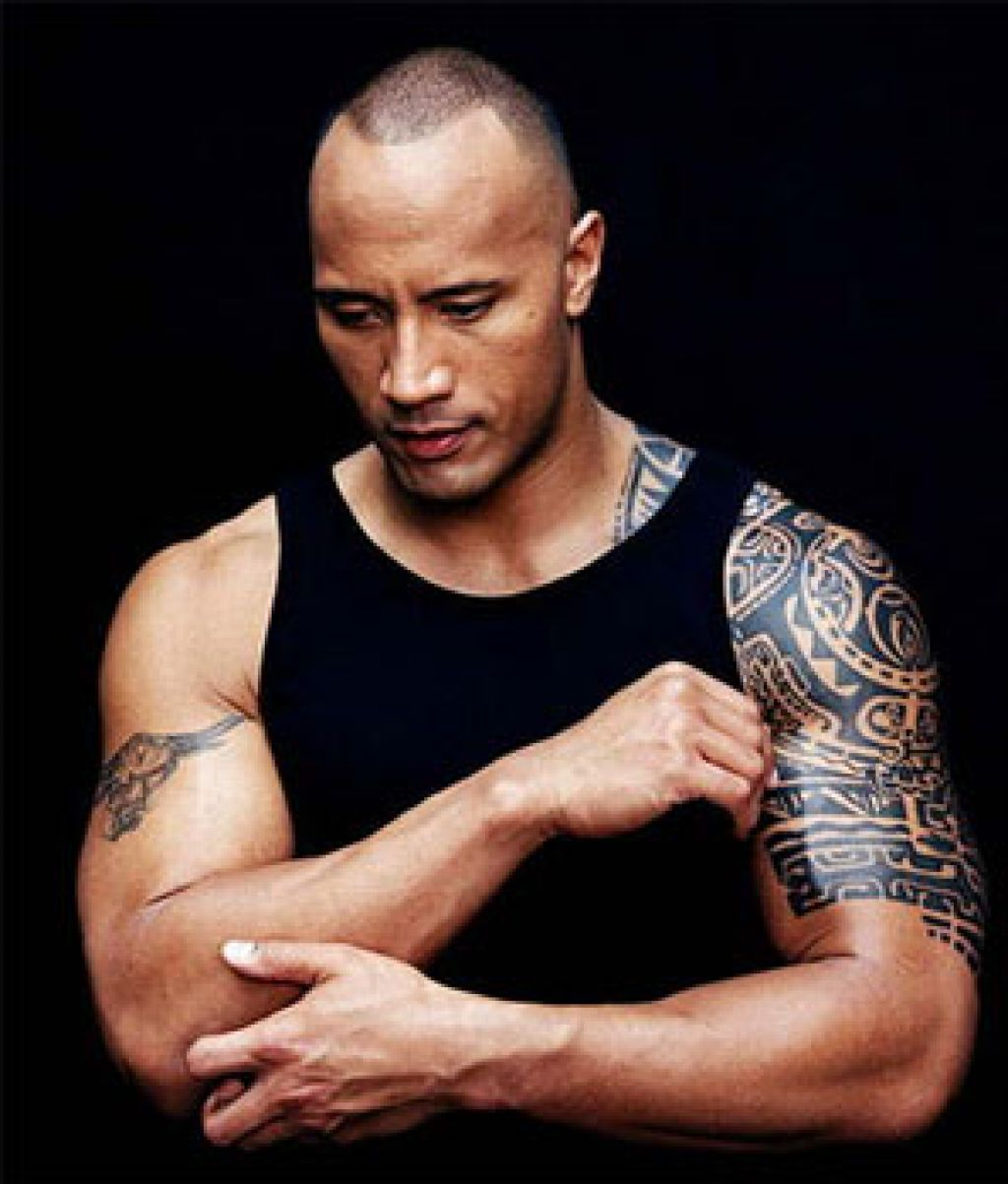 Dwayne Johnson Famous Tattoo Artist Pictures