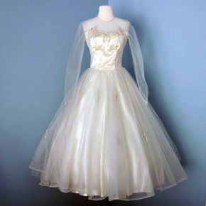 Elegant Tea Length Wedding Dresses Etsy Pictures