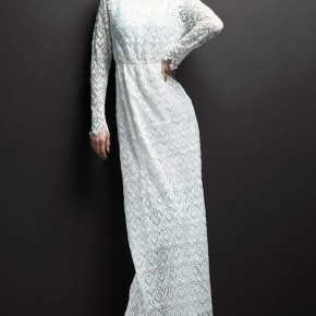 Elegant White Long Dresses Lace Pictures
